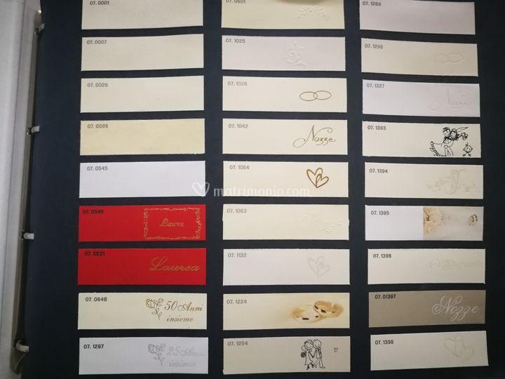 Varie tipologie di carta