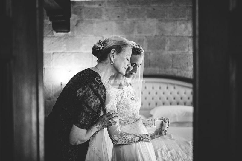 Momento toccante madre-figlia