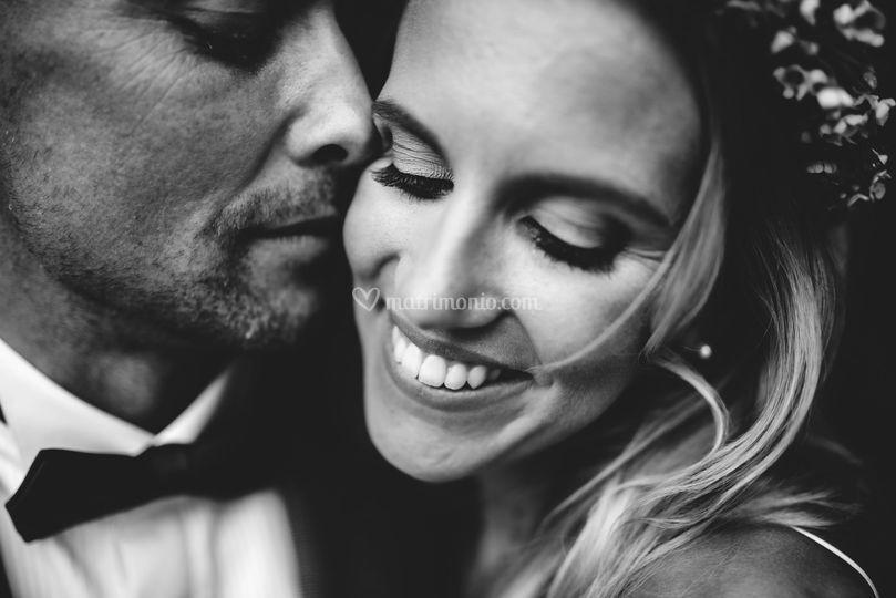 Close up wedding portrait