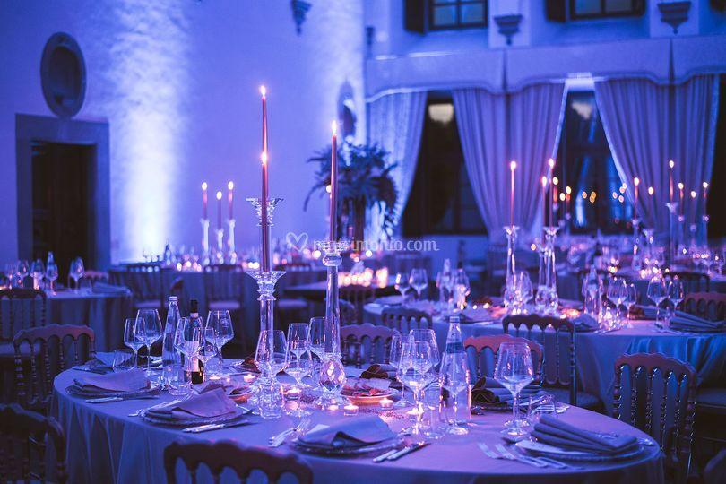 Allestimento tavolo in villa
