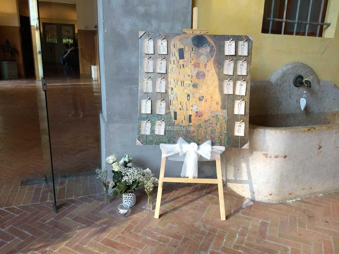 Partecipazioni Matrimonio Klimt.Tableau Tema Il Bacio Di Klimt Di Le Emozioni Del Cuore Foto 5