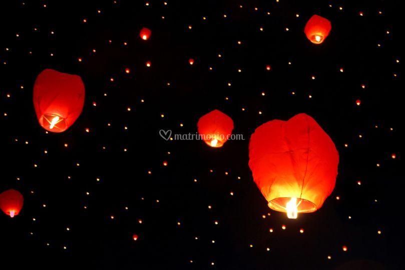 Lancio delle Lanterne Volanti