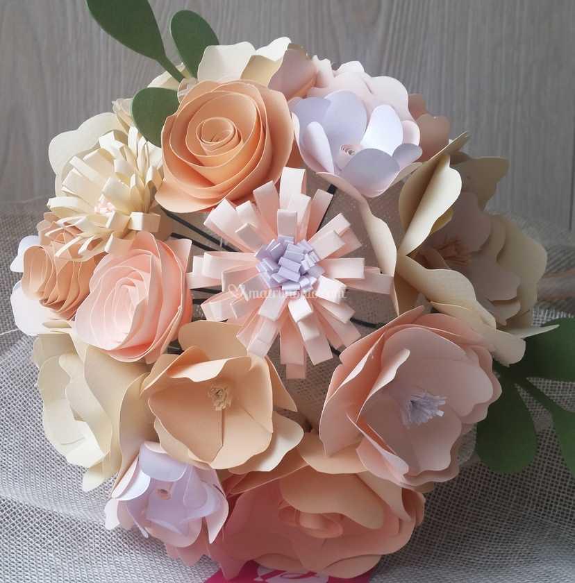 Bouquet Sposa Carta.Bouquet Sposa Carta Delicato Di Pimpinella Piccole Creativita