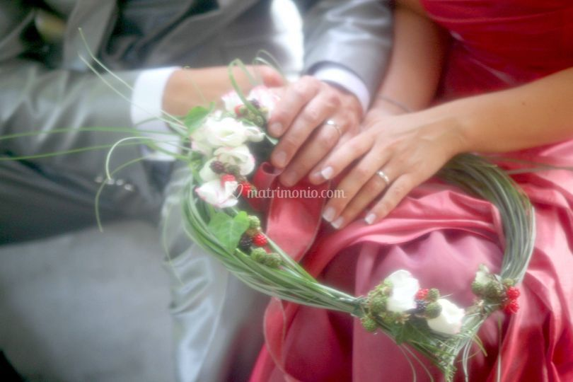 Particolare bouquet e anelli