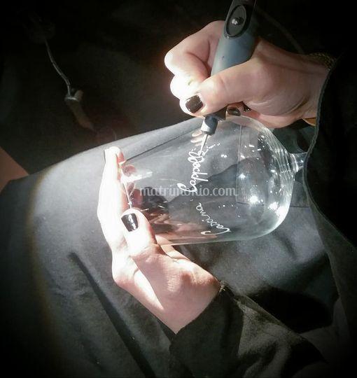 Bicchiere inciso