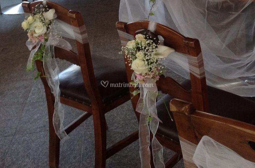 Addobbo sedie sposi