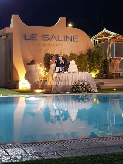 Il tavolo sposi bordo piscina