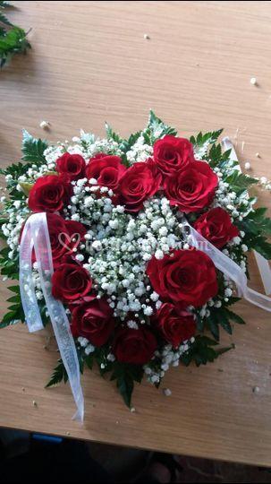 Portafedi floreali