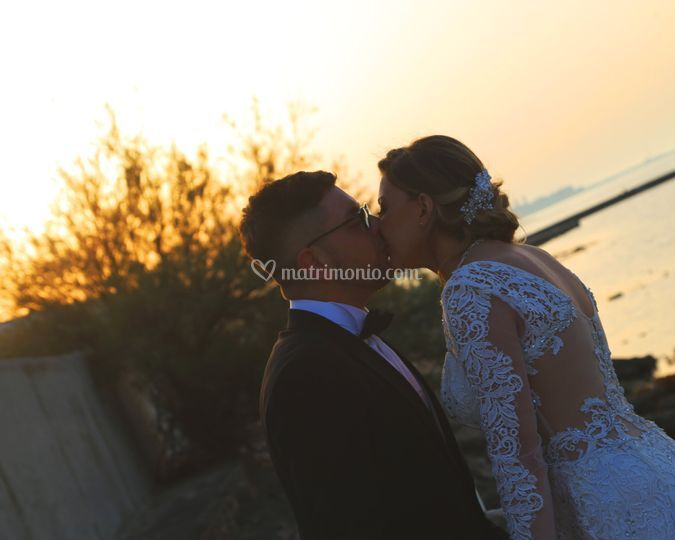 Wedding Bari Tramonto Bacio