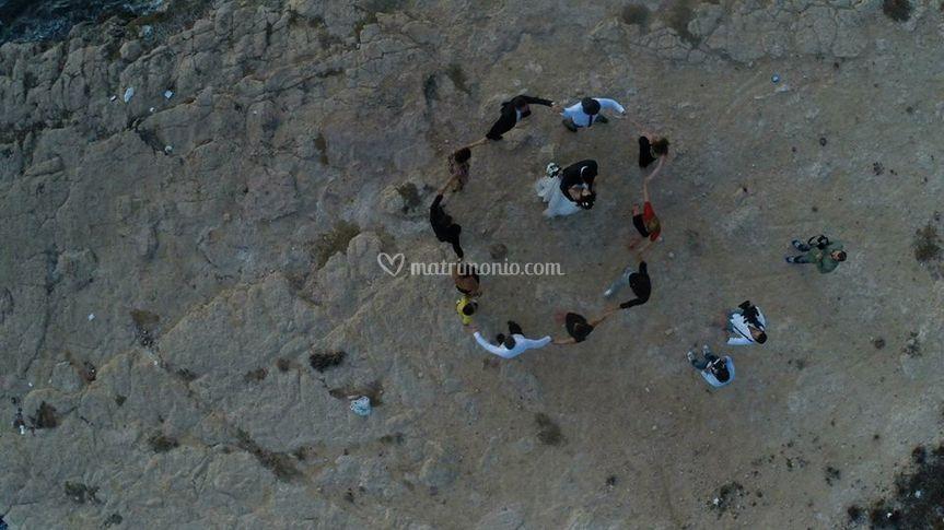 Drone con Amici sposi