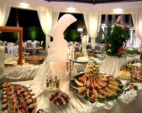 L'allestimento dei buffets è curato da chef qualificati
