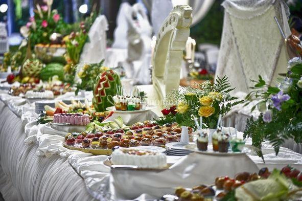 I raffinati buffets per un matrimonio esclusivo