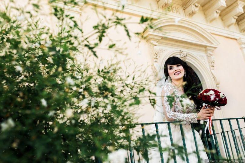 Sposa in balconata