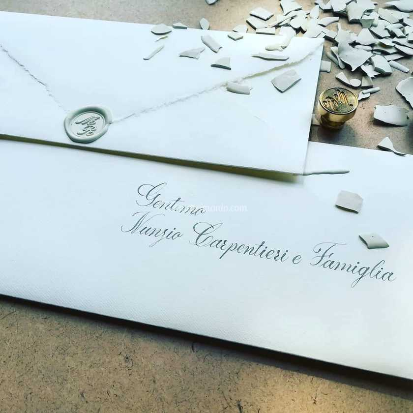 Intestazione Partecipazioni Matrimonio.Intestazione Sulle Buste Di K G Calligraphy Foto 39
