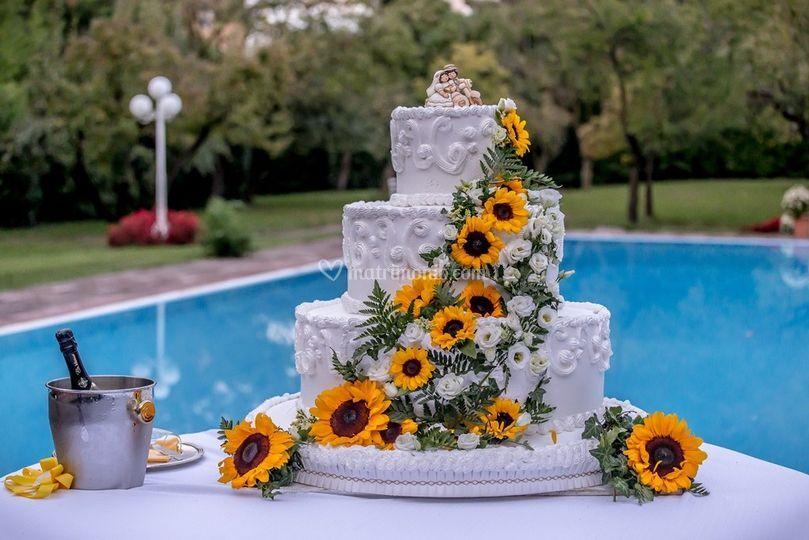 La torta in piscina