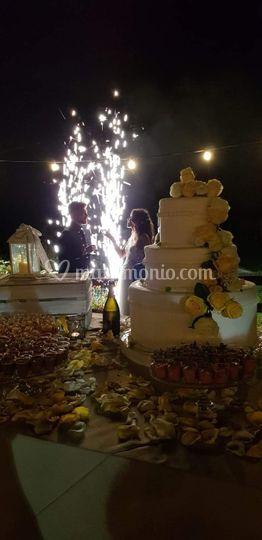Taglio torta sotto le stelle