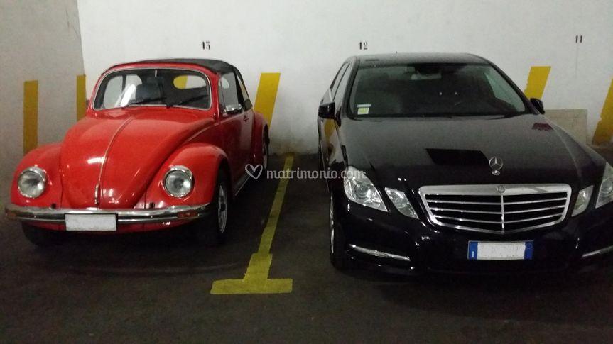 Maggiolino e Mercedes Classe E