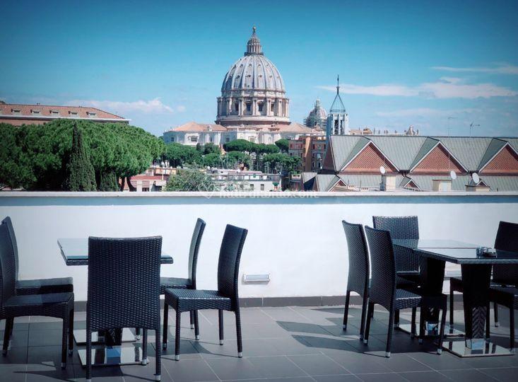 Terrazza vista San Pietro