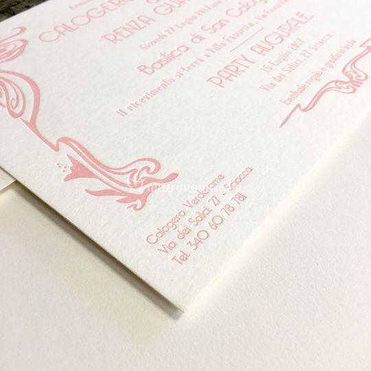 ArtDeco letterpress invitation