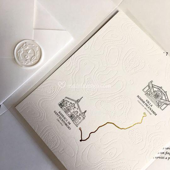 Gold, black & letterpress