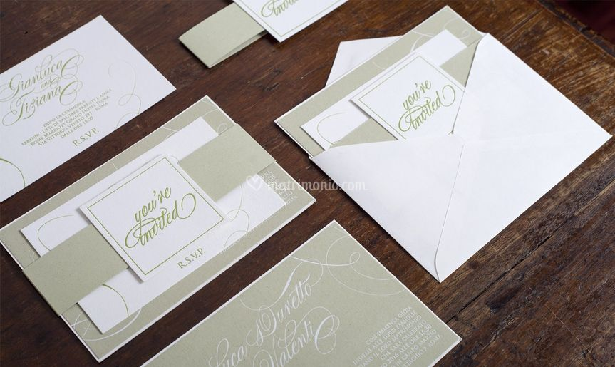 Kiwi letterpress invitation