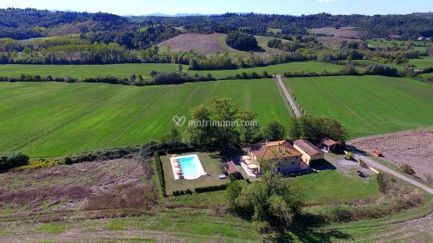 Villa Gorgo dall'alto