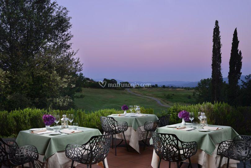 Cena terrazzo UNA Restaurant