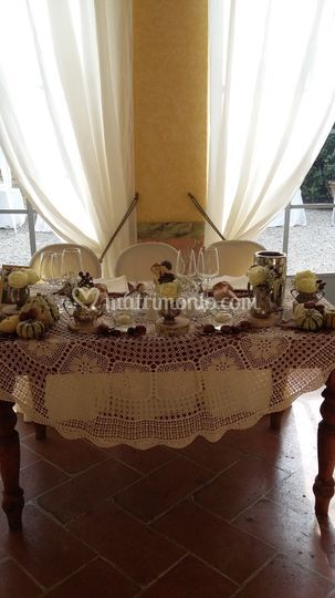Tavolo vintage autunno