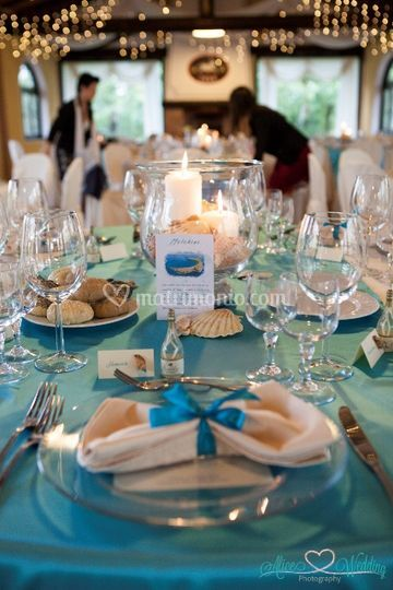 Allestimento Wedding Tema Mare