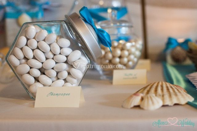 Dettaglio Sweet Table Tema Mar