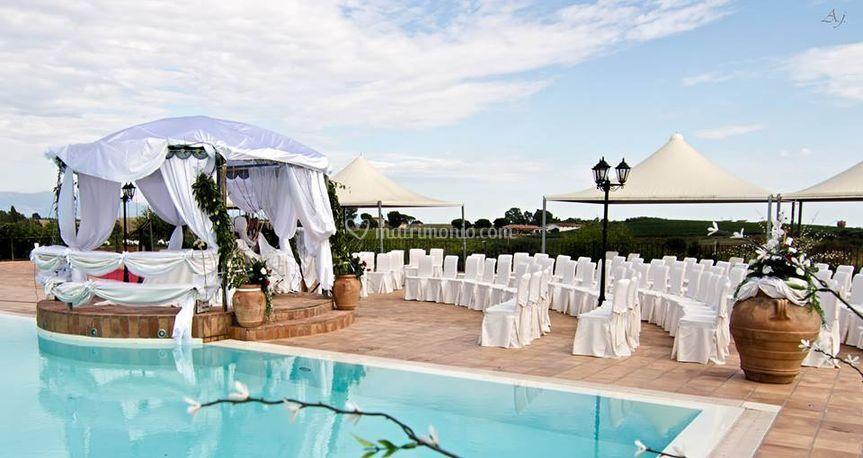 Cerimonia in piscina