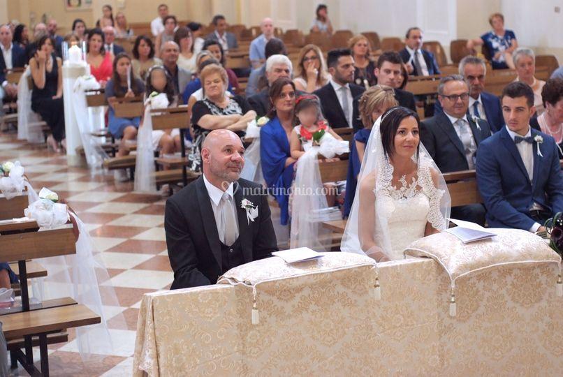 Sposi durante il rito