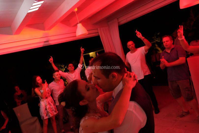 La festa finale degli sposi