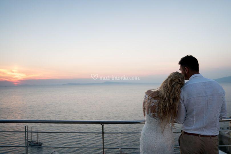 Sposi & Sky con tramonto