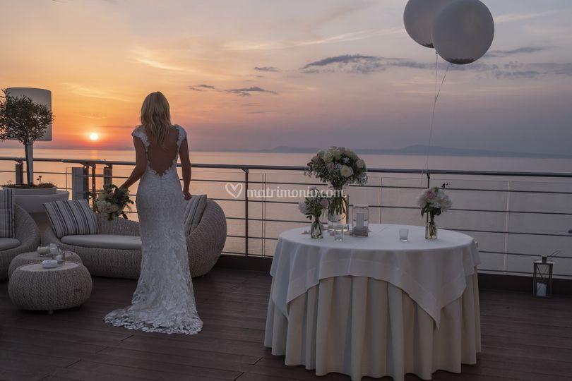 Sposa e tramonto