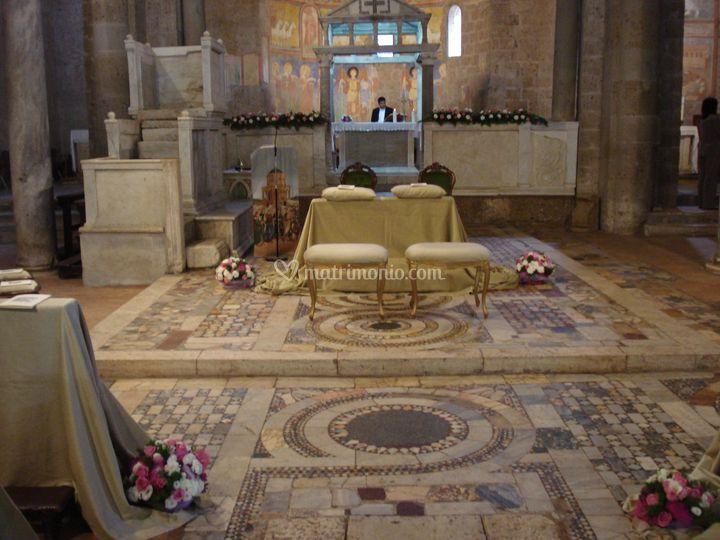 Allestimento alla Basilica Castel Sant'Elia