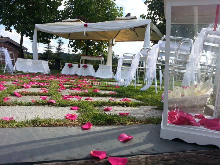 Secorazioni con petali rossi