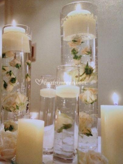 Matrimonio Tema Originale : Centrotavola matrimonio con portacandele