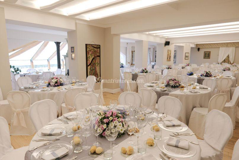 La sala per 150 ospiti