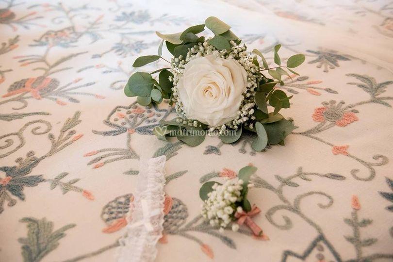 Bouquet monofiore e bottoniera