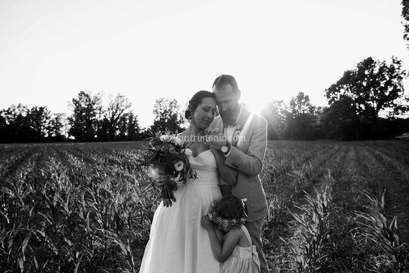 Foto di coppia con figlia