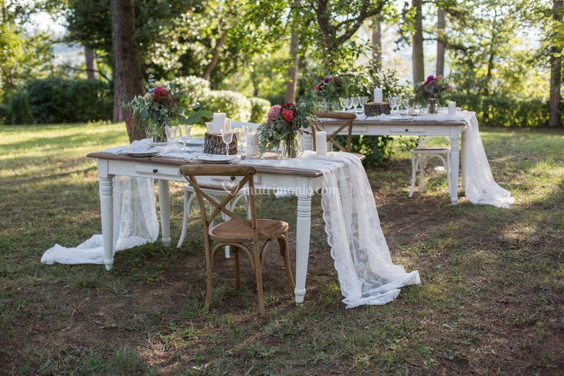 Mise en place country chic