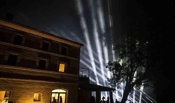 Spettacolo di luci in villa