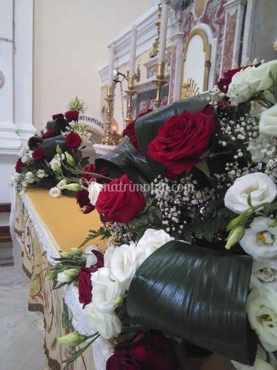 Allestimento altare maggiore