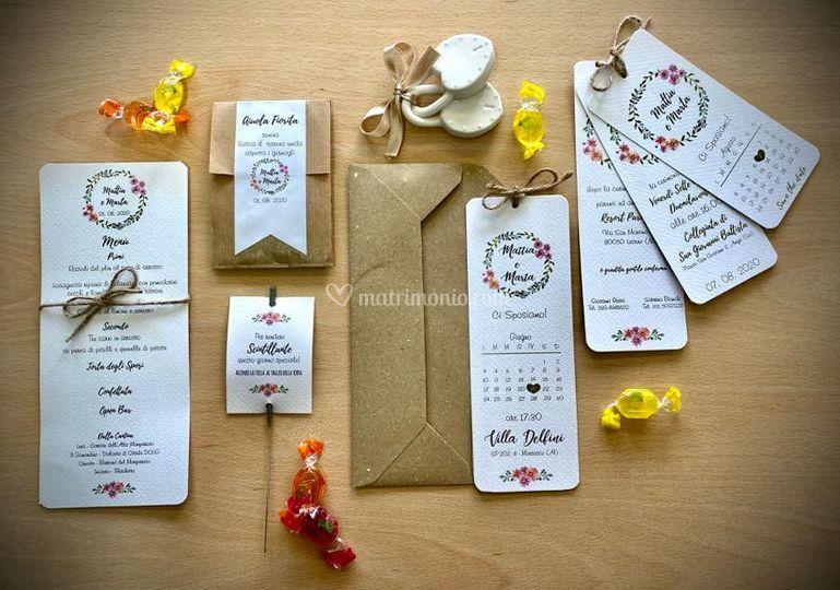 Wedding stationery floral