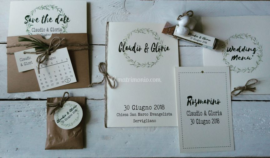 Wedding stationery country