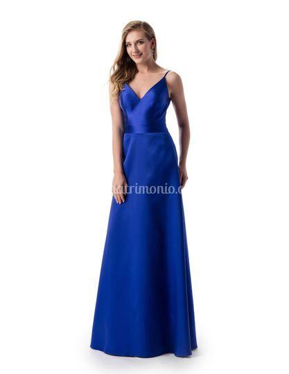 Abito donna lungo blu royal