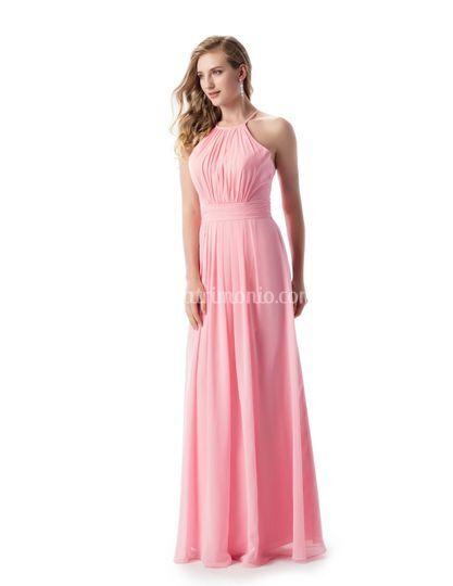 Abito lungo donna colore rosa