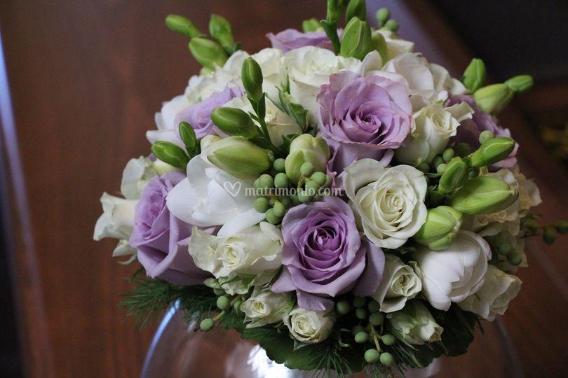 Bouquet di roselline lilla