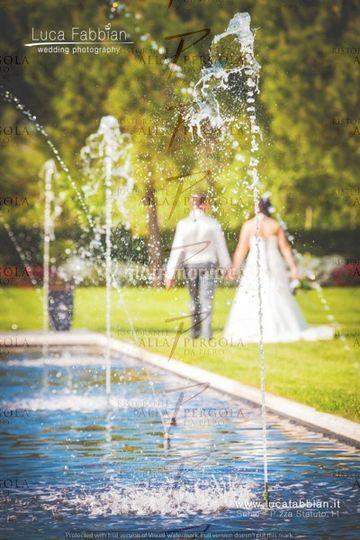 Foto sposi nel parco